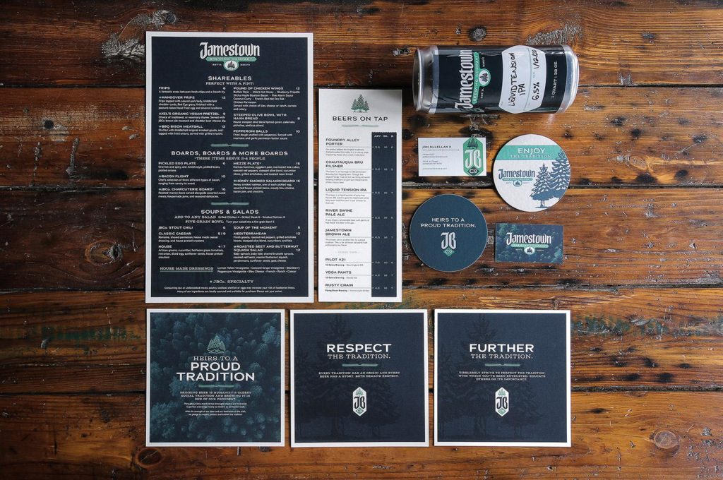 Luminus 2020 Gold ADDY Winning Jamestown Brewing Company Brand Identity